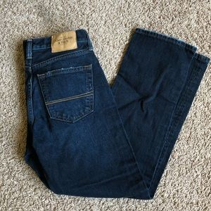 Abercrombie and Fitch dark wash jeans